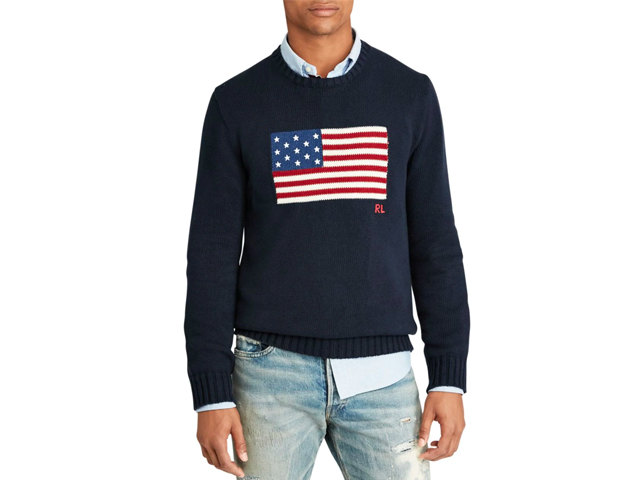 Polo Ralph Lauren The Iconic Flag Sweater.