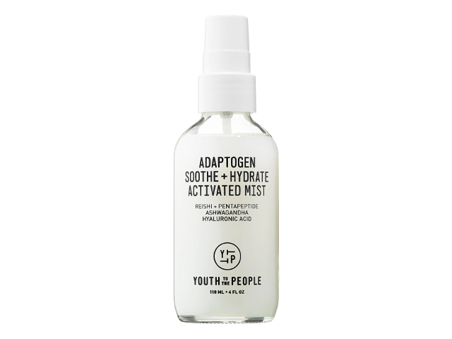 Youth To The People Adaptogen Soothe + Hydrate Activated Mist with Reishi + Ashwagandha.