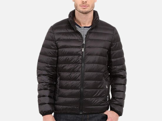 Tumi Men's Patrol Packable Travel Puffer Jacket.