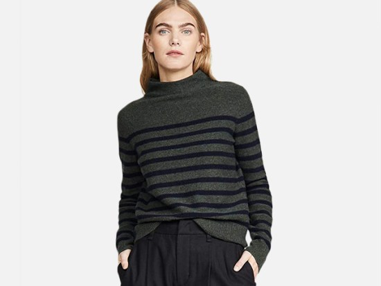 Vince Women's Brenton Stripe Cashmere Sweater.