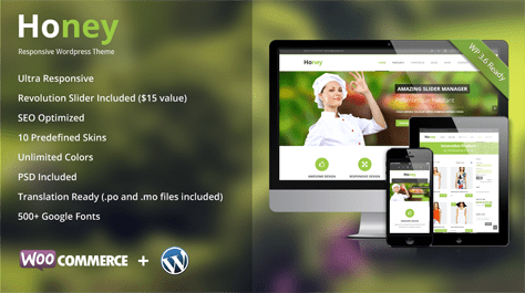 Honey Responsive WordPress Theme