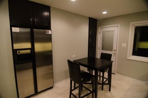 Kitchen - fridge/pantry view