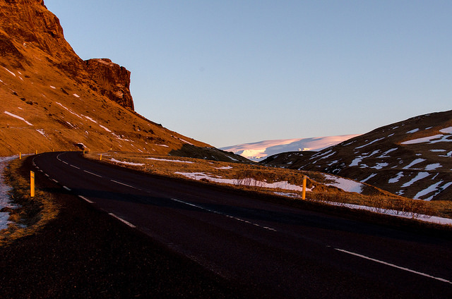 Roads near Vik Iceland