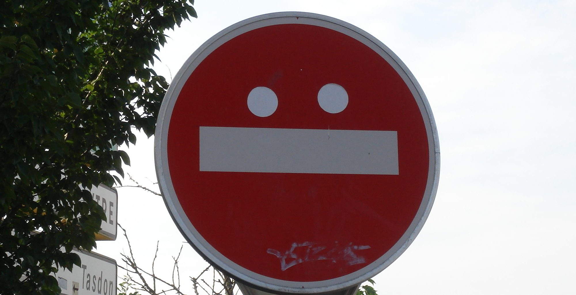 Meh sign face