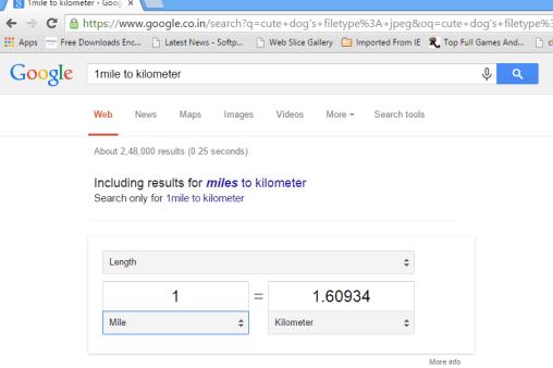1mile to kilometer