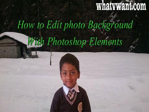 Edit photo background