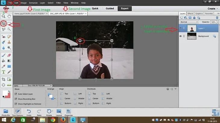 Edit image background