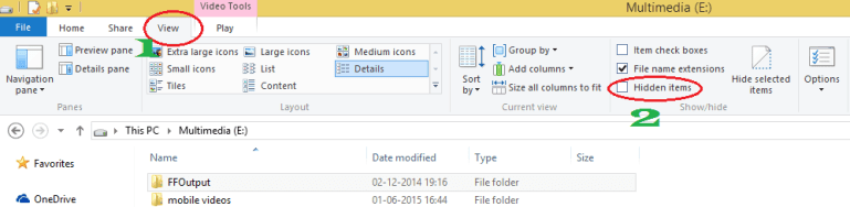 how to hide files in windows 8
