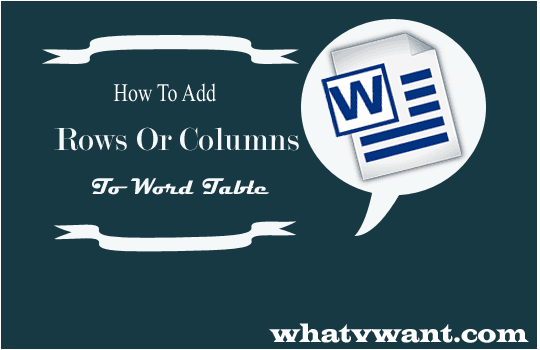 add row in word table