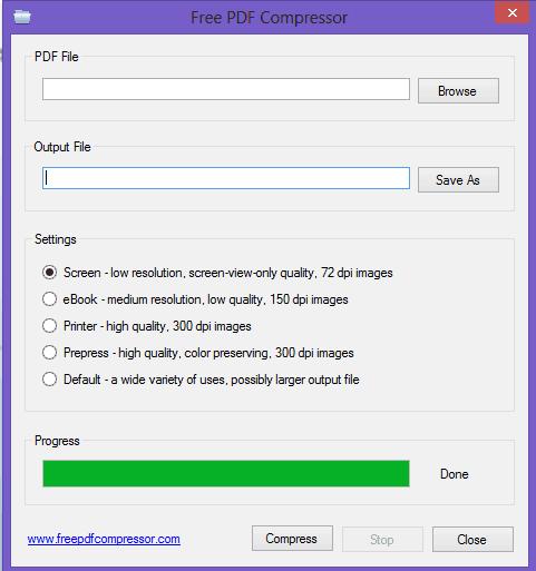 free pdf compression software