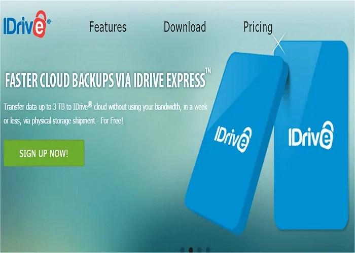 cloud backup storage iDrive