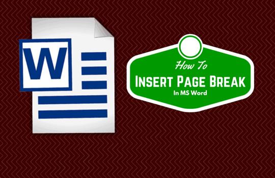 page break in word