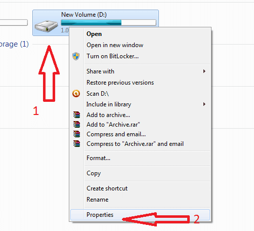 how can i give disk quota in window 7