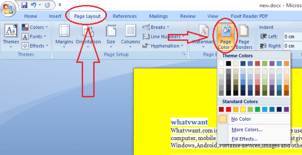word document background