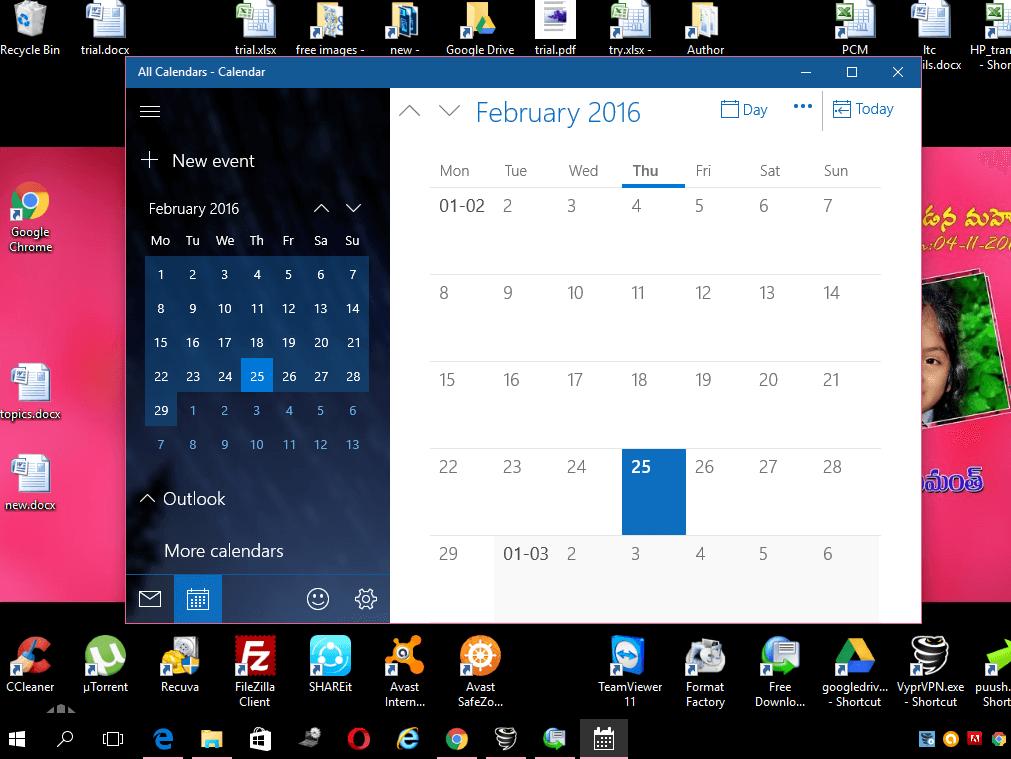 Windows 10 features