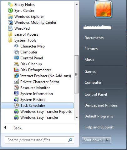 Task Scheduler for windows