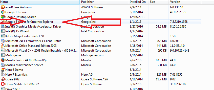 Remove Internet explorer