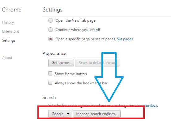 make Google default search engine