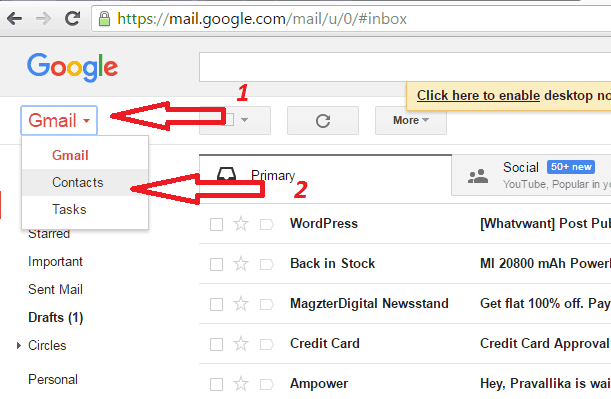 How to add and delete contacts in gmail