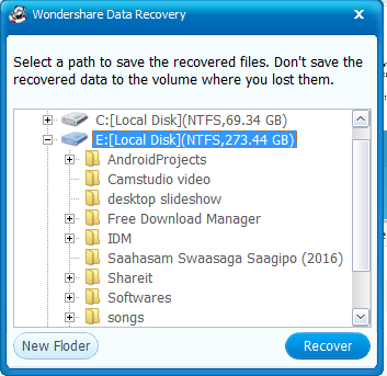 save recovered file