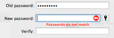 Passwords do not match