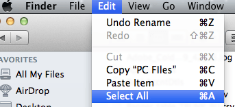 Transfer files from PC to Mac