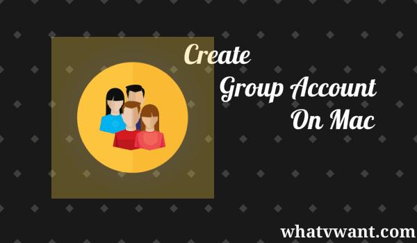 create group account on mac
