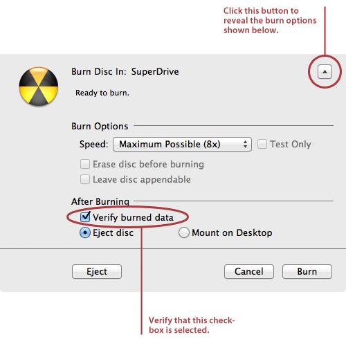Burn ISO image on mac