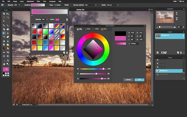 pixlr web based tool