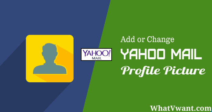 change profile picture of yahoo