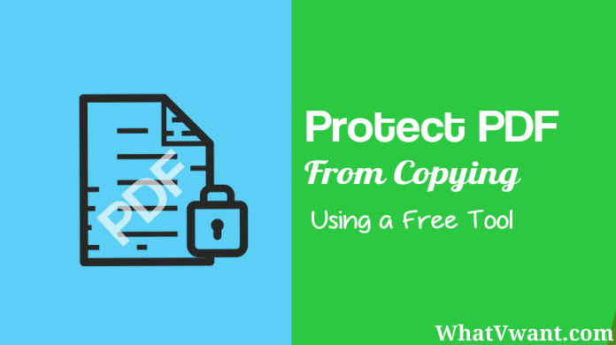 protect PDF from copying