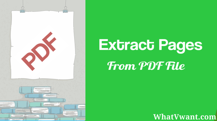 extract pages from a pdf file