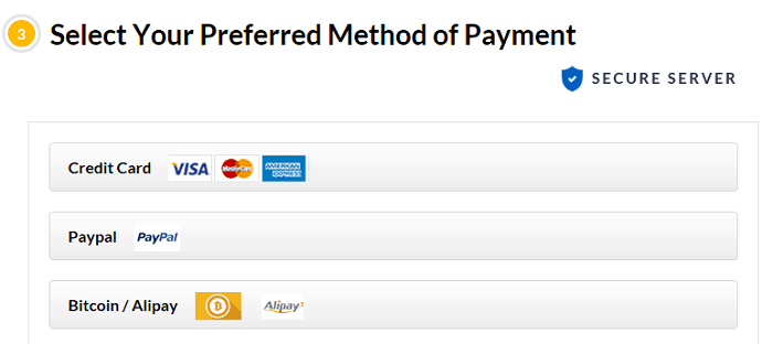 FastestVPN payment methods