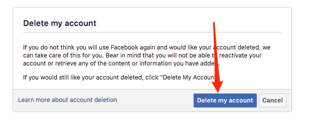 2 Ways to Delete Facebook Account Permanently 5