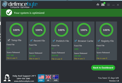 Defencebyte computer optimizer features