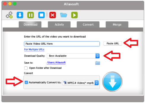 Download Video using Allavsoft