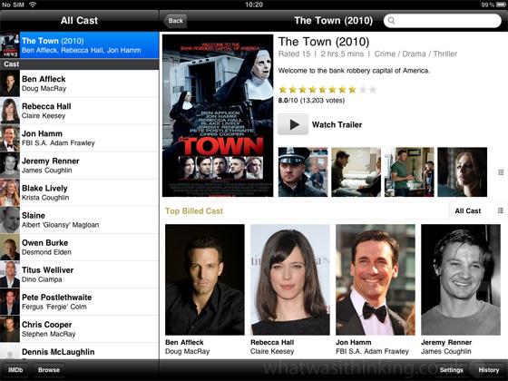 IMDB for the iPad screenshot