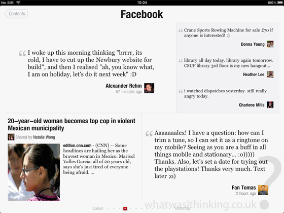 flipboard for the ipad screenshot