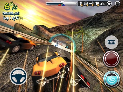 screenshot of carnage racing for ios