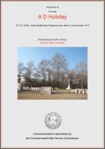 CWGC Certificate for Arthur Dennis Hobday