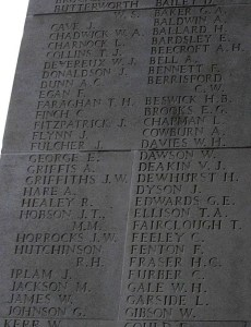 Cornelius Finch on Thiepval Memorial