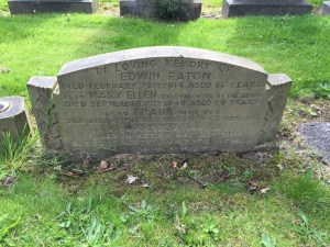 Headstone for Edwin Eaton and family