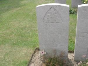 Headstone for James Beswick