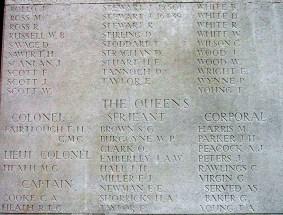 Memorial Panel for David Savage - Loos Memorial
