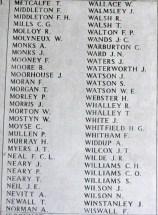 Memorial Panel for Frank Middleton - Menin Gate