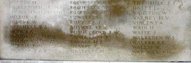 Memorial Panel for Hugh Pattison Savage