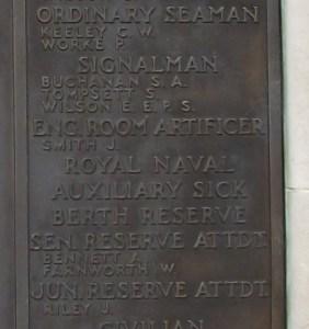 Memorial panel for Albert Bennett (Image courtesy of Frank Grant at www.findagrave.com)