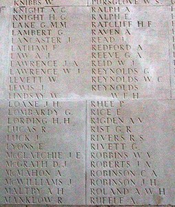 Alfred Hannant Maltby on Thiepval Memorial