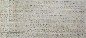 Arthur Frederick's Inscription on Vimy Memorial