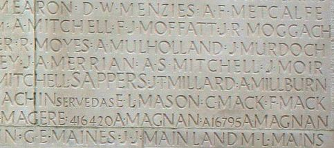 Arthur Frederick's Inscription on Vimy Memorial